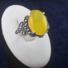 انگشتر نقره زنانه طرح گلبرگ