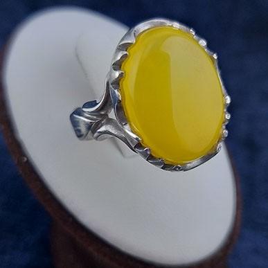 Man-ring-Sharaf-1002-1 انگشتر نقره مردانه با سنگ شرف الشمس طرح صفوی امیر + حکاکی