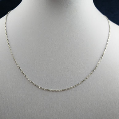 chain-neckless-silver-2 زنجیر نقره ظریف عیار ۹۲۵ مخصوص گردنبند (۵۰ سانتی متری)