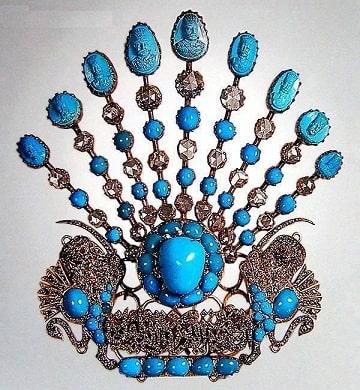 turquoise-jeghe-naseredinshah-min فیروزه و روش تشخیص حرفهای آن + تمام خواص سنگ فیروزه + احادیث
