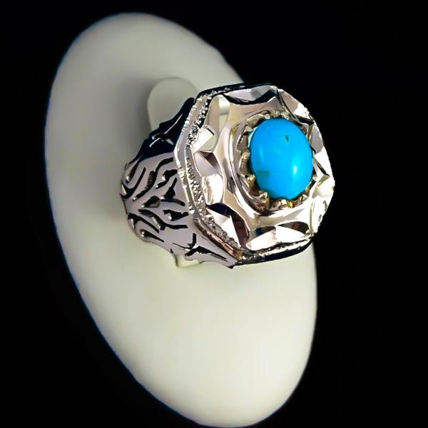 2-1-051-turquoise-ring-2 خواص سنگ فیروزه: شگفتانگیزترین خواص انگشتر فیروزه