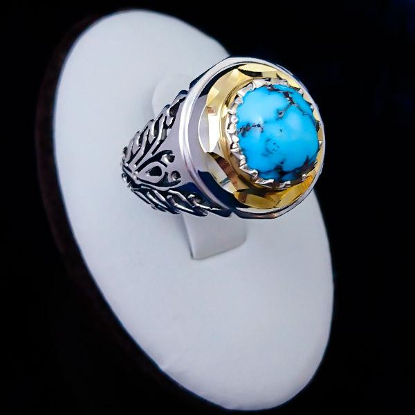 2-1-055-turquoise-ring-4 فیروزه اصل را چگونه بشناسیم؟ به همراه توضیحات کامل قیمت سنگ فیروزه نیشابوری