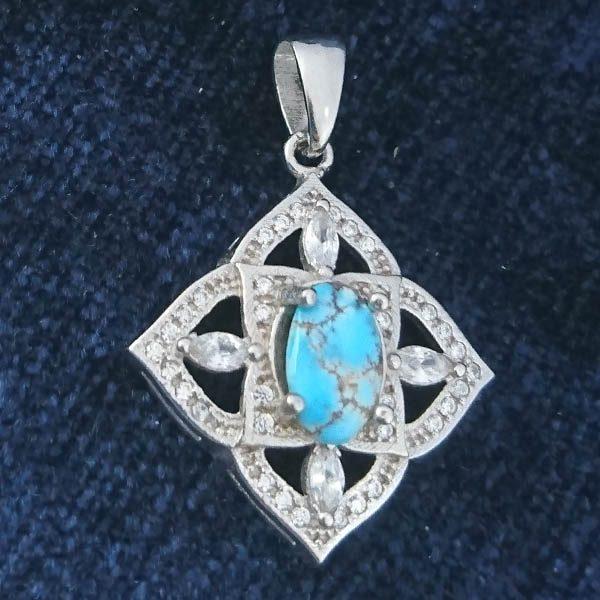 23017-turquois-necklaces-3 گردنبند نقره زنانه طرح آزاده ۲ با سنگ فیروزه نیشابوری