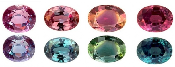 Alexandrite انگشتر الکساندریت الماس تراش نقره مردانه طرح دورطلایی چیلان