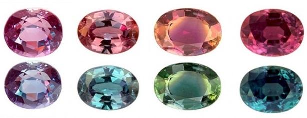 Alexandrite انگشتر الکساندریت الماس تراش نقره مردانه طرح دور طلایی دلوین