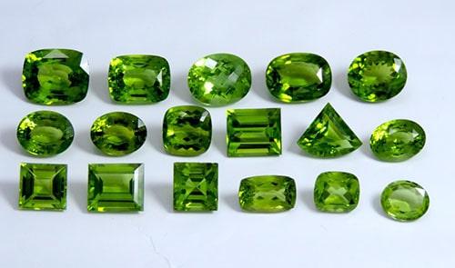 kinds-of-peridot سنگ زبرجد: خواص سنگ زبرجد سبز در اسلام، روش تشخیص، نگهداری و قیمت زبرجد