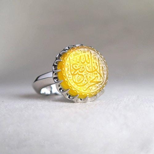 agate-sharaf-shams-ring عقیق زرد همراهبا بررسی تخصصی طلسم شرف الشمس (خرافه یا واقعیت)