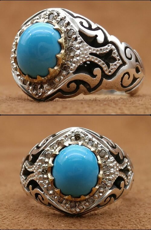 ajami-turquoise فیروزه اصل را چگونه بشناسیم؟ به همراه توضیحات کامل قیمت سنگ فیروزه نیشابوری