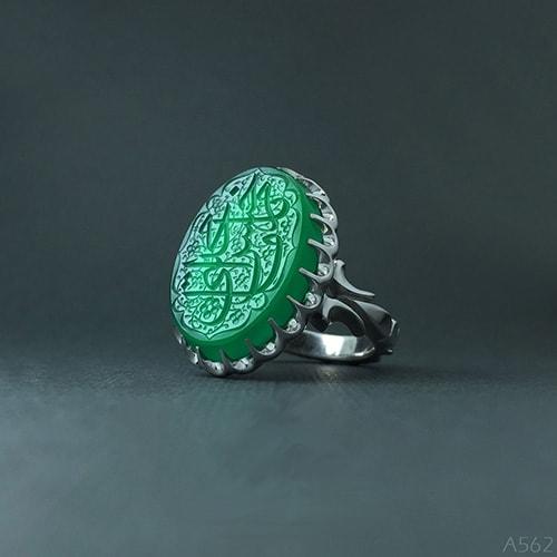 green-ring1 عقیق سبز: آنچه درباره سنگ عقیق سبز و خواص فراوان این سنگ سبز باید بدانید