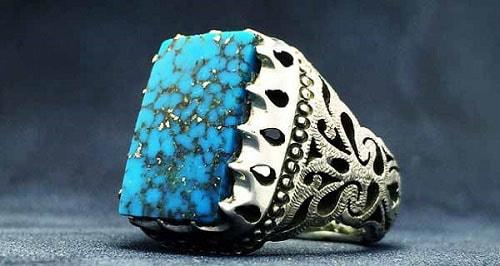 turquouise-ring-handmade-1 فیروزه اصل را چگونه بشناسیم؟ به همراه توضیحات کامل قیمت سنگ فیروزه نیشابوری