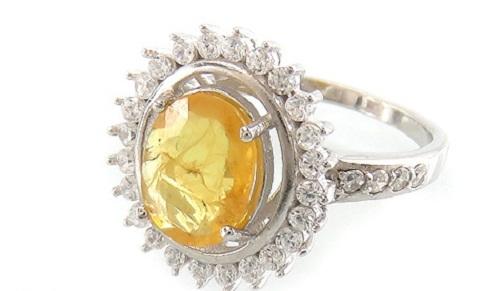 woman-ring-yellow-ruby یاقوت زرد : راه تشخیص و قیمت گذاری + خواص کامل سنگ یاقوت زرد