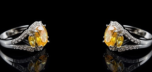 yellow-Sapphire-ring یاقوت زرد : راه تشخیص و قیمت گذاری + خواص کامل سنگ یاقوت زرد