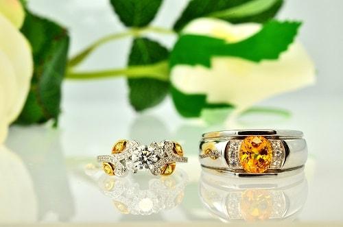 yellow-Sapphire-rings یاقوت زرد : راه تشخیص و قیمت گذاری + خواص کامل سنگ یاقوت زرد
