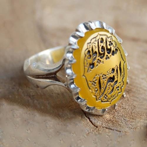 yellow-agate-ring عقیق زرد همراهبا بررسی تخصصی طلسم شرف الشمس (خرافه یا واقعیت)