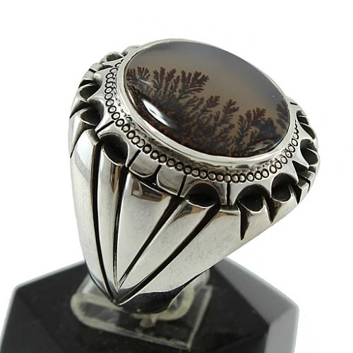 -انگشتر-شجر-مردانه-اصل سنگ شجر: خواص، راه تشخیص، قیمت، معادن و زیباترین عکس های نگین عقیق شجر