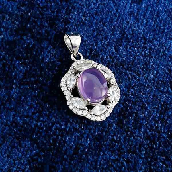 4-3-029-burgundy-agate-necklace-4 گردنبند نقره زنانه طرح مهگل با سنگ عقیق کبود یمنی