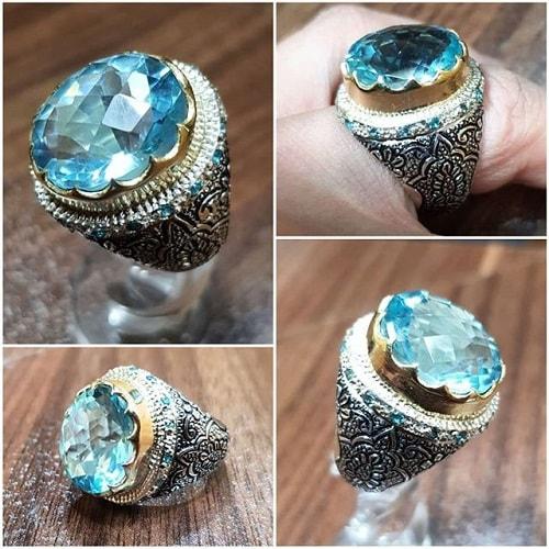 Acomarine-men-ring سنگ ماه تولد اسفند مطابق توافق جهانی و خواص کامل سنگ ماه اسفند