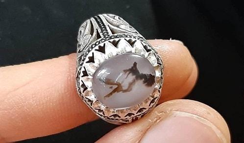Dendritic-agate-ring-mohammad-min سنگ شجر : پاسخ همه سوالات درباره انگشتر شجر + عکس شجر های خاص