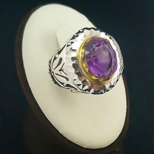 amethyst-men-ring سنگ ماه تولد اسفند مطابق توافق جهانی و خواص کامل سنگ ماه اسفند