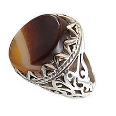 solomon-aqiq-ring-1 سنگ شجر : پاسخ همه سوالات درباره انگشتر شجر + عکس شجر های خاص