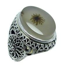 dendrite-agate-ring سنگ شجر : پاسخ همه سوالات درباره انگشتر شجر + عکس شجر های خاص