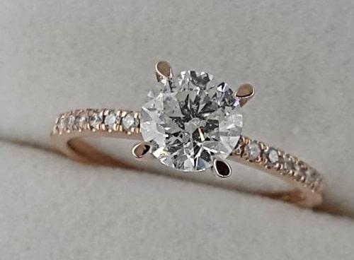 انگشتر الماس 1 قیراطی